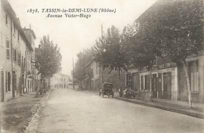 """CPA FRANCE 69 """" Tassin la Demi Lune, Avenue Victor Hugo"""""""