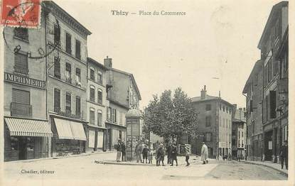 """CPA FRANCE 69 """" Thizy, Place du Commerce"""""""
