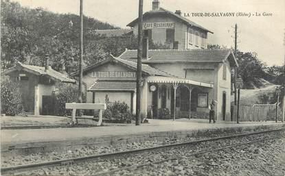 "CPA FRANCE 69 "" La Tour de Salvagny, La gare"""