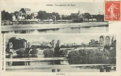 """/ CPA FRANCE 58 """"Cosne, vue générale des quais"""""""