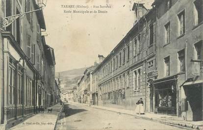 "CPA FRANCE 69 "" Tarare, Rue Serroux, Ecole municipale et de Dessin"""