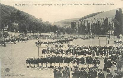 """CPA FRANCE 69 """" Tarare, Fêtes de Gymnastique des 29 et 30 juin 1912, Champ du concours"""""""