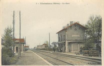 """CPA FRANCE 69 """" Vénissieux, La gare"""""""