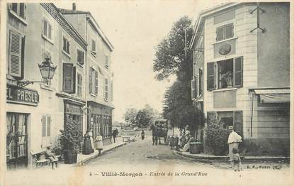 "CPA FRANCE 69 "" Villié Morgon, Entrée de la Grande Rue"""