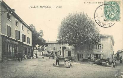 """CPA FRANCE 69 """" Villié Morgon, La Place"""""""