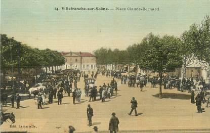 """CPA FRANCE 69 """" Villefranche sur Saône, Place Claude Bernard"""""""