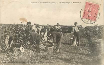 """CPA FRANCE 69 """" Environs de Villefranche sur Saône, Les vendanges en Beaujolais"""""""