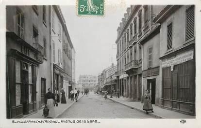 "CPA FRANCE 69 "" Villefranche sur Saône, Avenue de la Gare"""