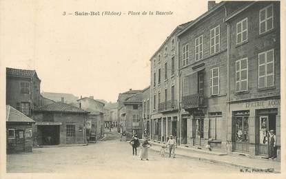"""CPA FRANCE 69 """" St Bel, Place de la Bascule"""""""