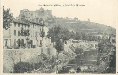 """CPA FRANCE 69 """" St Bel, Quai de la Brevenne"""""""