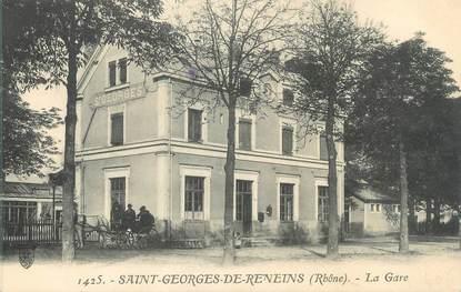 """CPA FRANCE 69 """" St Georges de Reneins, La gare"""""""