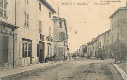 """CPA FRANCE 69 """" ST Georges de Reneins, Rue Nationale"""""""
