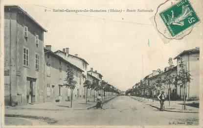 """CPA FRANCE 69 """" ST Georges de Reneins, La Route Nationale"""""""