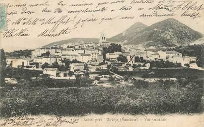 """CPA FRANCE 84 """" Sablet près l'Ouvèze, Vue générale"""""""