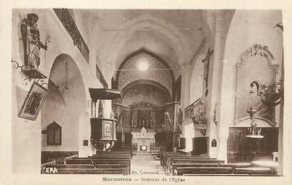 """CPA FRANCE 84 """" Mormoiron, Intérieur de l'église"""""""