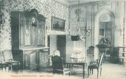 """CPA FRANCE 84 """" Rochegude, La salle à manger du château"""""""