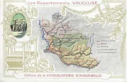 """CPA FRANCE 84 """"Carte géographique du Vaucluse"""""""