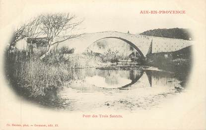 """CPA FRANCE 13 """" Aix en Provence, Pont des Trois Sautets"""""""