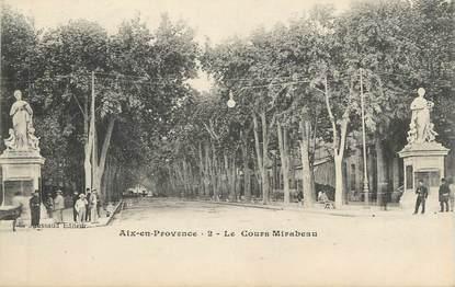 """CPA FRANCE 13 """" Aix en Provence, Le Cours Mirabeau"""""""