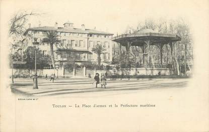 """CPA FRANCE 83 """" Toulon, La Place d'Armes et la Préfecture Maritime"""""""