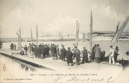 """CPA FRANCE 83 """" Toulon, Les Officiers de Marine '"""