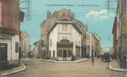 "CPA FRANCE 69 "" Villefranche sur Saône, Rue de la Gare"""