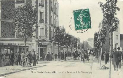 """CPA FRANCE 94 """" Nogent sur Marne, Le Boulevard de Champigny"""""""