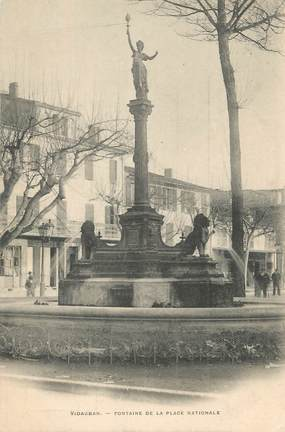 """CPA FRANCE 83 """" Vidauban, La fontaine de la Place Nationale"""""""