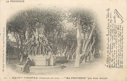 """CPA FRANCE 83 """" St Tropez, Promenade des Lices"""""""