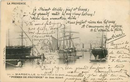 """CPA FRANCE 13 """"Marseille, le vieux port et les quais"""" / JEAN AICARD"""