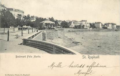 "CPA FRANCE 83"" St Raphaël, Boulevard Félix Martin"""
