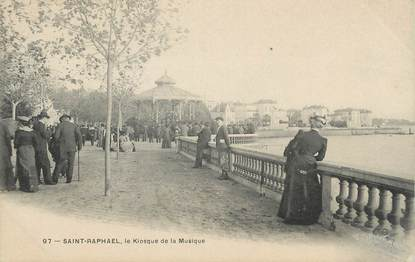 """CPA FRANCE 83"""" St Raphaël, Le kiosque de la musique"""""""