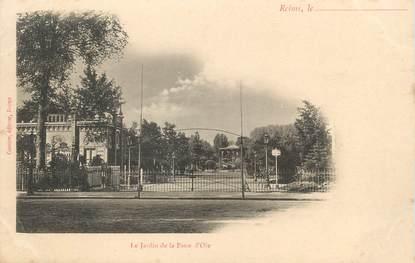 """CPA FRANCE 51 """" Reims, Le Jardin de la Patte d'Oie"""""""