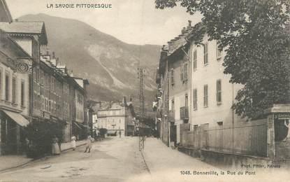 """CPA FRANCE 74 """"Bonneville, La rue du Pont"""""""