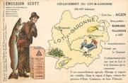 """47 Lot Et Garonne CPA FRANCE 47 """" Carte géographique du Lot et Garonne"""""""