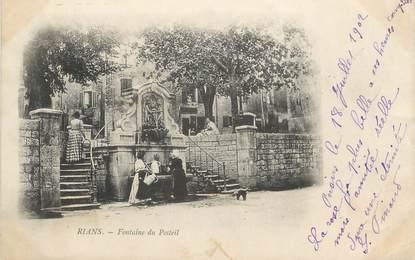"""CPA FRANCE 83 """" Rians, Fontaine du Posteil"""""""