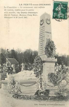 """CPA FRANCE 77 """" La Ferté sous Jouarre, Le cimetière et le monument aux morts"""""""