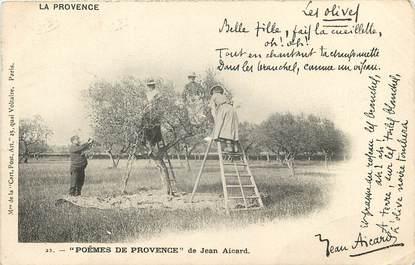 """CPA FRANCE 13 """"série la Provence"""" / FOLKLORE / JEAN AICARD / CUEILLETTE DES OLIVES"""