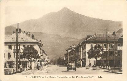 "CPA FRANCE 74 ""Cluses, La route nationale, le Pic de Marcilly"""
