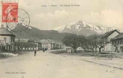 """CPA FRANCE 74 """"Cluses, Le Champ de Foire"""""""
