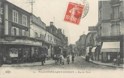 """CPA FRANCE 94 """" Villeneuve St Georges, Rue de Paris"""""""