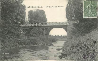"""CPA FRANCE 42 """"Andrezieux, pont sur le Furan"""""""