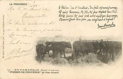 """CPA FRANCE 13 """"série la Provence, en Camargue"""" / FOLKLORE / JEAN AICARD"""