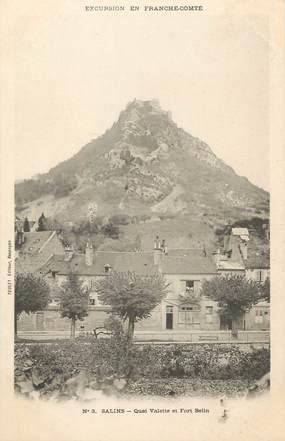 """CPA FRANCE 39 """" Salins, Quai Valette et le Fort Belin"""""""