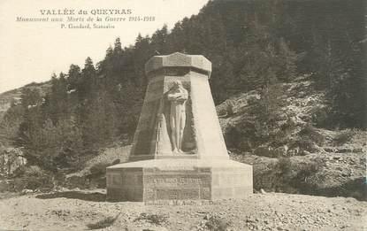 """CPA FRANCE 05 """" Vallée du Queyras, Le monument aux morts"""""""