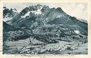"""05 Haute Alpe CPA FRANCE 05 """" Monétier les Bains, Vue générale et le Pic de Près les Fonds"""""""