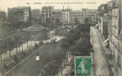 "CPA FRANCE 92 "" Clichy, Place des Fêtes et Boulevard National '"