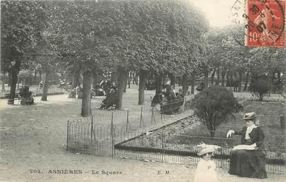 """CPA FRANCE 92 """" Asnières, Le Square"""""""