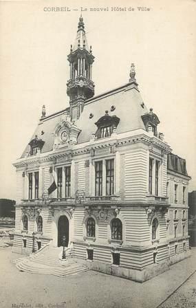 """CPA FRANCE 91 """" Corbeil, Le nouvel Hôtel de Ville"""""""