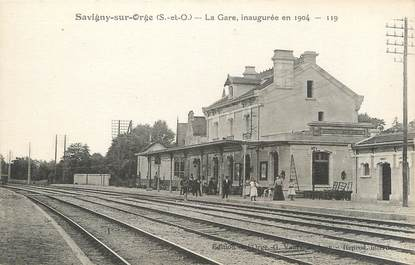 """CPA FRANCE 91 """" Savigny sur Orge, La gare """""""